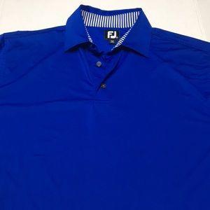 Foot joy FJ Men's blue polo shirt size large